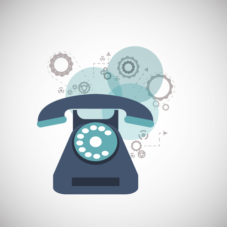 telecommunications: Technical service  concept with icon design, vector illustration 10 eps graphic. Illustration