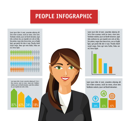 infomation: People  concept with infographic icon design, vector illustration 10 eps graphic.