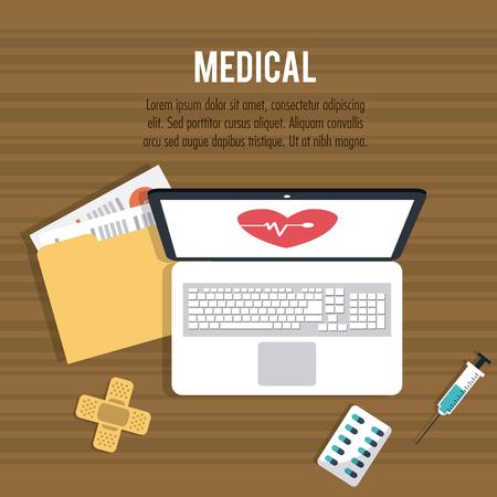 Medische zorg concept met pictogram ontwerp, vector illustratie 10 eps grafische