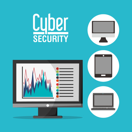 fatal error: Cyber security concept with icon design, vector illustration 10 eps graphic.