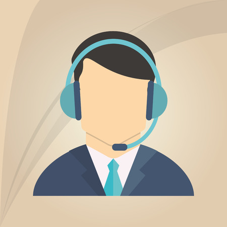 technical assistant: Customer service concept with icon design, vector illustration 10 eps graphic.