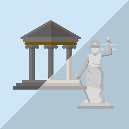 Recht und Gerechtigkeit Konzept mit Icon-Design, Vektor-Illustration 10 EPS-Grafik Vektorgrafik