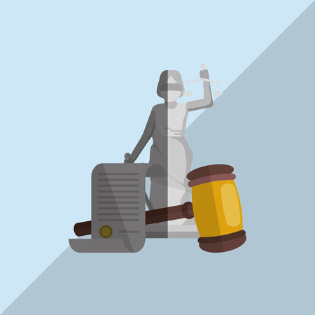 attorney: Law and Justice concept with icon design, vector illustration 10 eps graphic Illustration