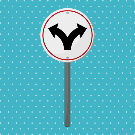 pointed arrows: Road sign concept with icon design, vector illustration 10 eps graphic