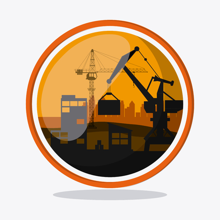 industrial safety: Under construction concept with icon design, vector illustration 10 eps graphic.