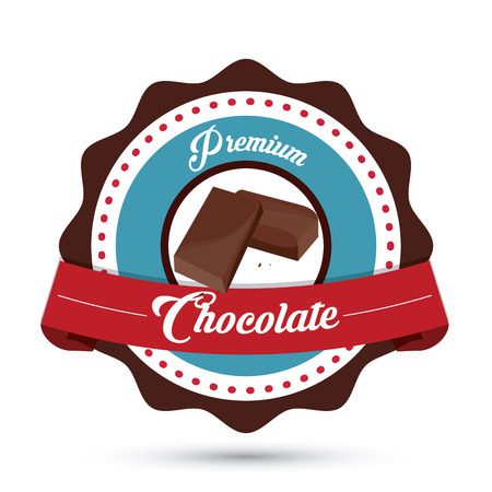 confection: Chocolate concept with icon design, vector illustration 10 eps graphic.
