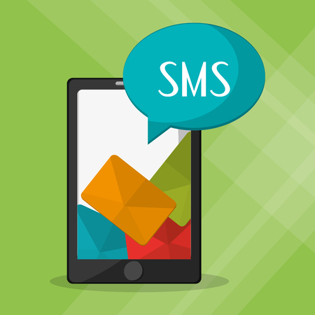 sms: SMS concept with icon design, vector illustration 10 eps graphic.