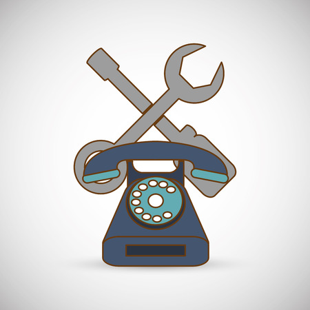 communicator: Customer service concept with icon design, vector illustration