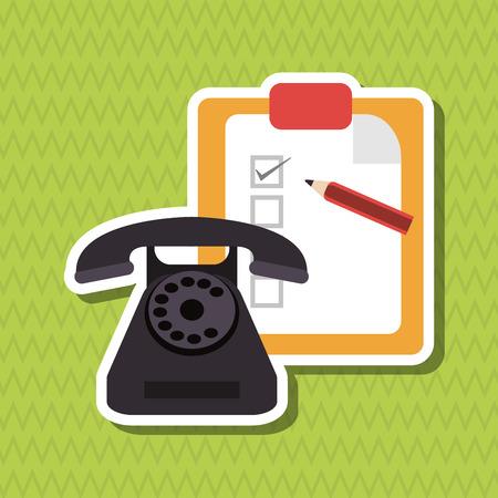 telephone operator: Customer service concept with icon design, vector illustration