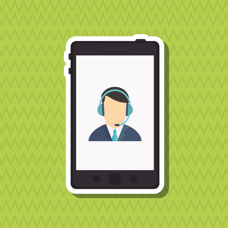 receptionists: Customer service concept with icon design, vector illustration