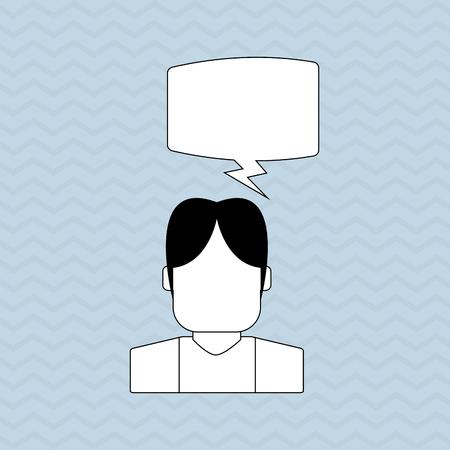 communication concept: Communication concept with icon design, vector illustration Illustration