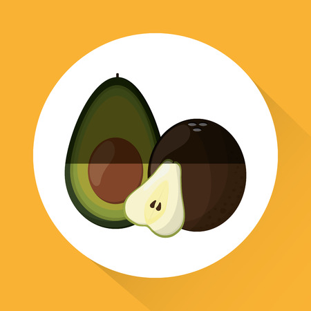 market gardening: Fruits  concept with icon design, vector illustration