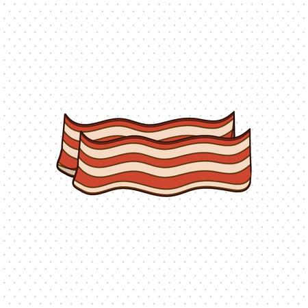 bacon art: Breakfast concept with icon design, vector illustration