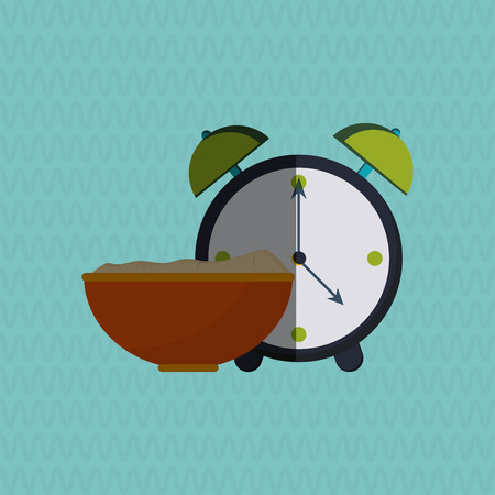cooking time: Breakfast concept with icon design, vector illustration