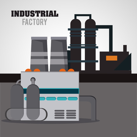 manufacturing occupation: Industrial  concept with factory icon design, vector illustration 10 eps graphic.