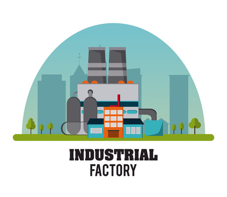 Industrial  concept with factory icon design, vector illustration 10 eps graphic.