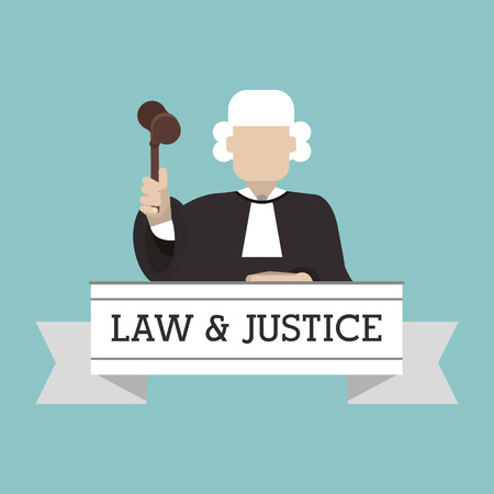 legal system: Law and Justice concept with icon design, vector illustration 10 eps graphic.