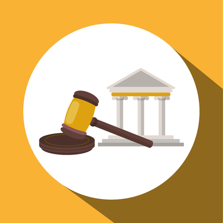 judicial system: Law and Justice concept with icon design, vector illustration 10 eps graphic.