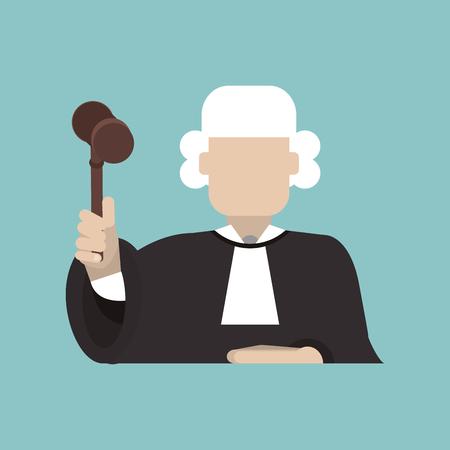 Gesetzes- und Gerechtigkeitskonzept mit Ikonendesign, Grafik der Vektorillustration 10 ENV.
