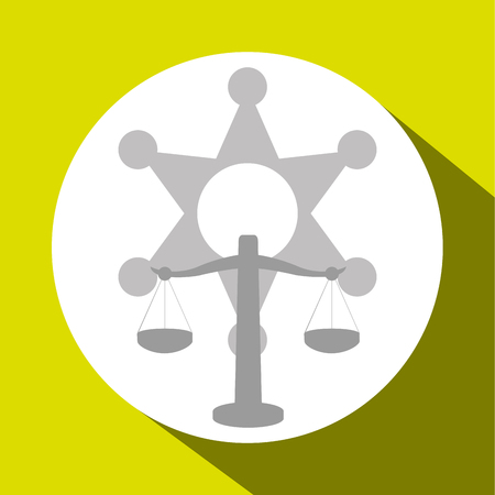 trial balance: Law and Justice concept with icon design, vector illustration 10 eps graphic.