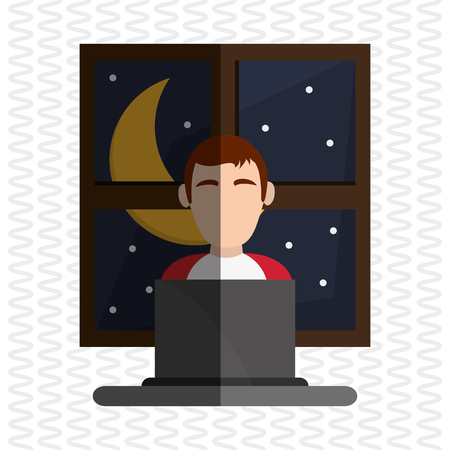 resting: Resting and sleep concept with icon design, vector illustration 10 eps graphic