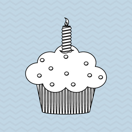 cupcake illustration: cupcake concept with icon design, vector illustration 10 eps graphic