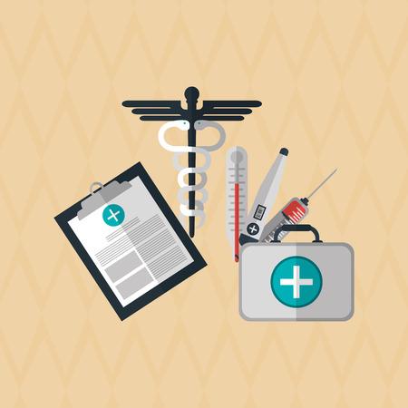 historia clinica: el concepto del cuidado médico con el diseño de iconos, ilustración vectorial eps 10 gráfico. Vectores