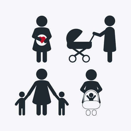 expectant mother: Family concept with pregnancy mother design, vector illustration 10 eps graphic Illustration