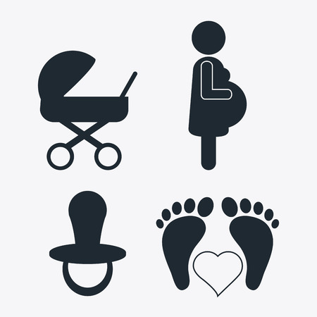 Family concept with pregnancy mother design, vector illustration 10 eps graphic Illustration
