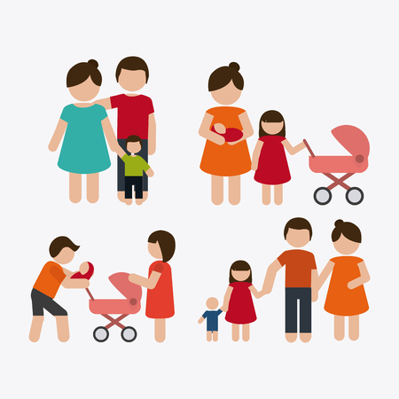 graphic icon: Family concept with icon design, vector illustration 10 eps graphic
