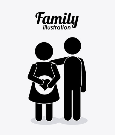 expectant: Family concept with pregnancy mother design, vector illustration 10 eps graphic Illustration