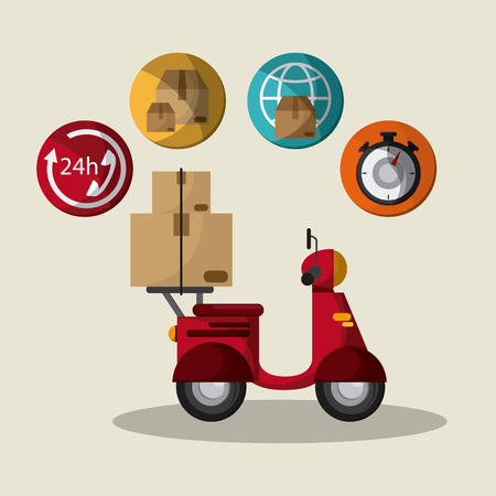Express delivery concept with icon design, vector illustration 10 eps graphic.