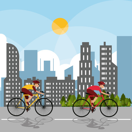 racing bike: Racing bike concept with icon design, vector illustration 10 eps graphic.