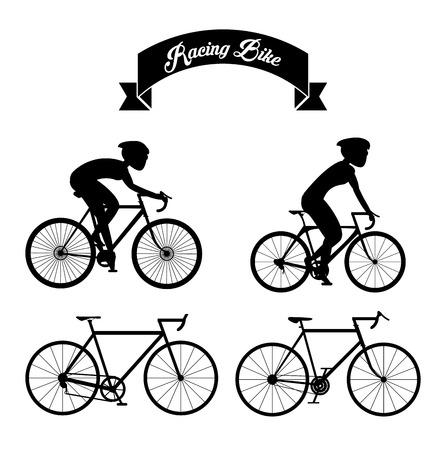 Racefiets concept met pictogram ontwerp, vector illustratie 10 eps grafische. Vector Illustratie