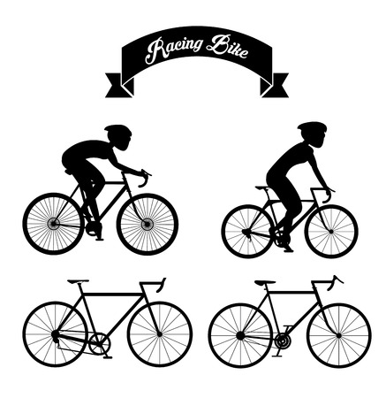 Racing bike concept with icon design, vector illustration 10 eps graphic.