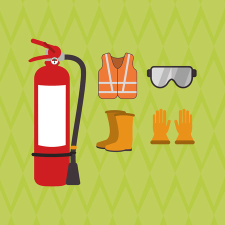 protected plant: Industry security  concept with icon design, vector illustration 10 eps graphic.