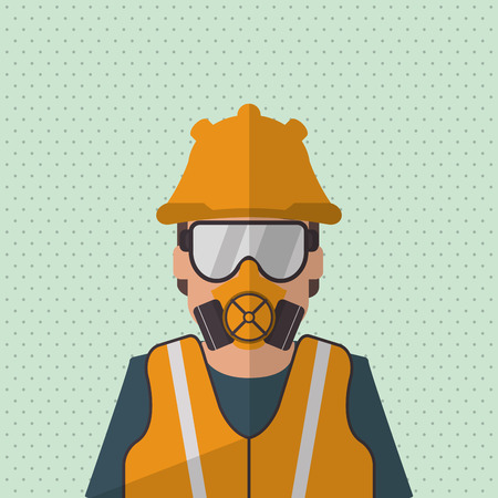Industrial workers: Industry security  concept with icon design, vector illustration 10 eps graphic.