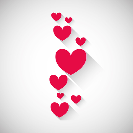 to fall in love: Love concept with icon design, vector illustration 10 eps graphic. Illustration