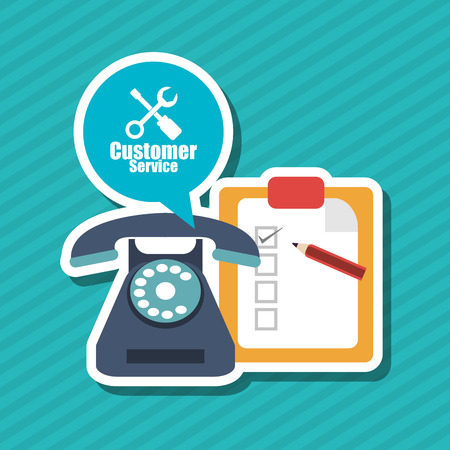 communicator: Customer service concept with icon design, vector illustration 10 eps graphic.