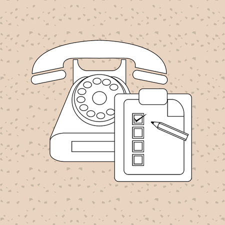 receptionists: Customer service concept with icon design, vector illustration 10 eps graphic.