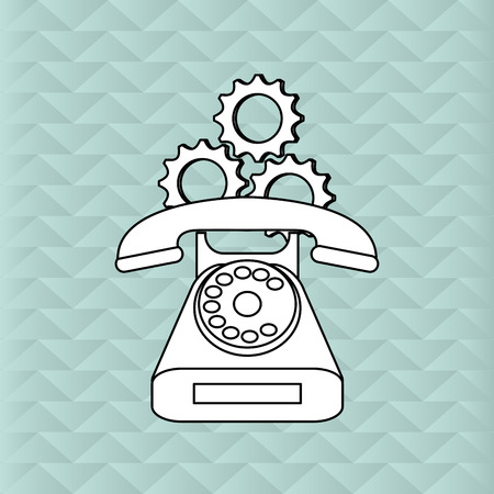 telephone operator: Customer service concept with icon design, vector illustration 10 eps graphic.