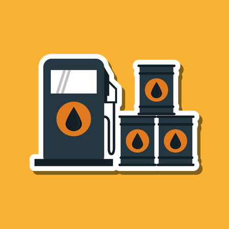 petrochemical plant: Oil Industry concept with icon design, vector illustration 10 eps graphic