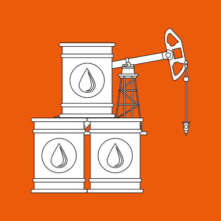 Oil Industry concept with icon design, vector illustration 10 eps graphic