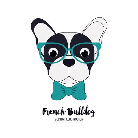 Het concept van hond met Franse bulldog pictogram ontwerp, vector illustratie 10 eps grafische.