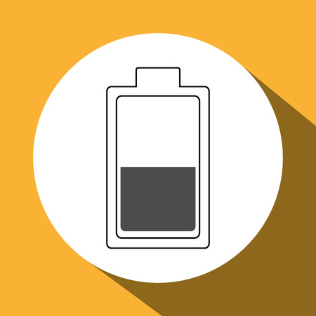 alkaline: battery concept with icon design, vector illustration 10 eps graphic. Illustration