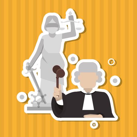 Recht und Gerechtigkeit Konzept mit Icon-Design, Vektor-Illustration 10 EPS-Grafik. Vektorgrafik