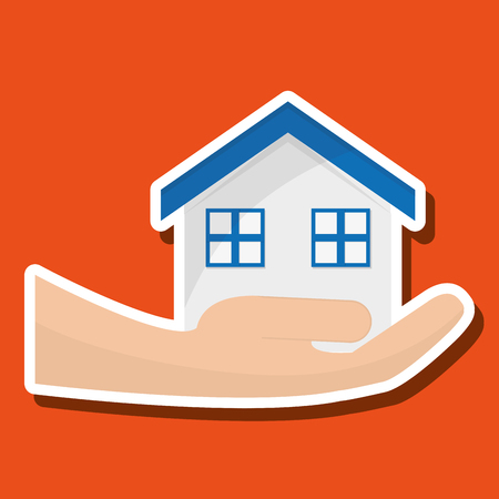 guard house: Insurance concept with icon design, vector illustration 10 eps graphic