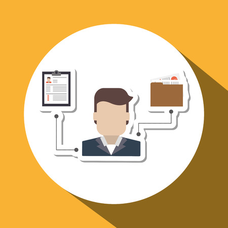 employee development: Human Resources concept with icon design, vector illustration 10 eps graphic