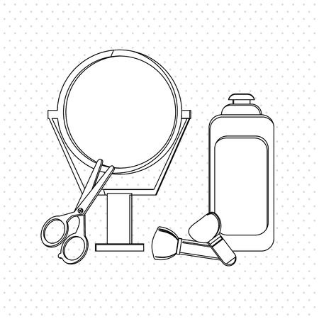 look in mirror: Hair salon  concept with icon design, vector illustration 10 eps graphic. Illustration