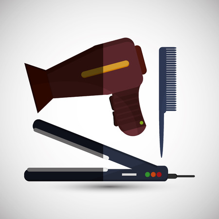 hairstylist: Hair salon  concept with icon design, vector illustration 10 eps graphic. Illustration